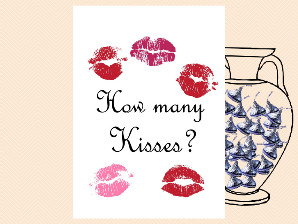 graphic relating to Guess How Many in the Jar Printable called Wager how quite a few Kisses there are inside of a jar - Magical Printable