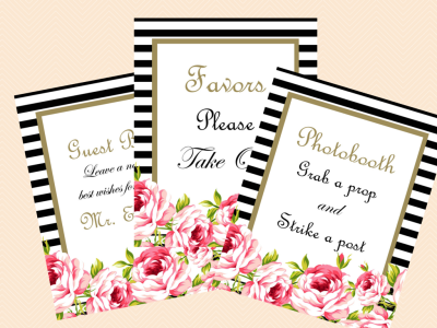 Wedding Signs Bridal Shower Signs Baby Shower Signs