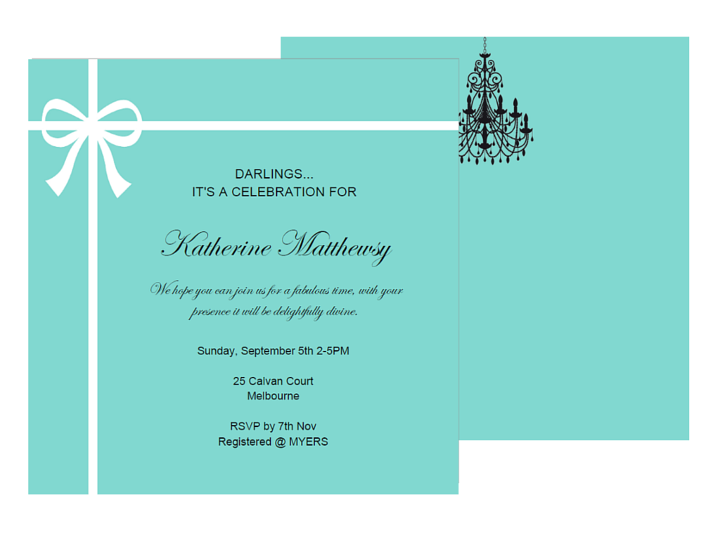 Editable Tiffany Invitations - Magical Printable