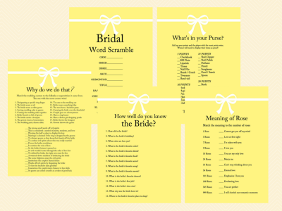 how well do you know the bride, bridal scramble, why do we do that, rose game, yellow bridal shower, ribbon (4)