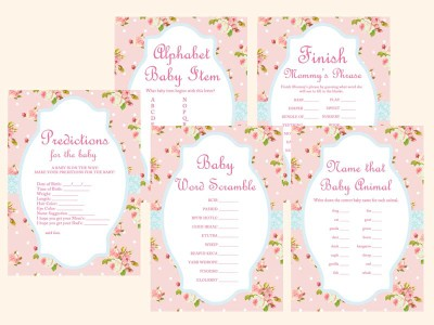 baby shower games activities magical printable