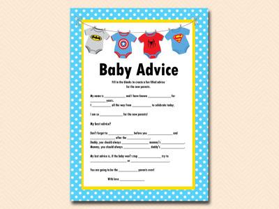 Superhero Baby Shower Printable Magical Printable