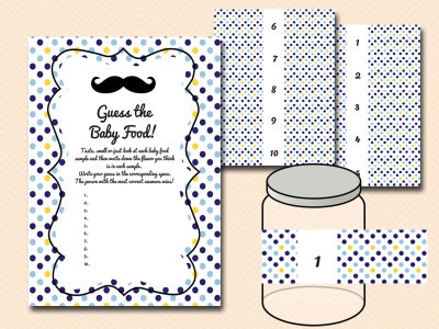 image relating to Guess the Baby Food Game Free Printable identified as Minimal Person Kid Shower - Magical Printable