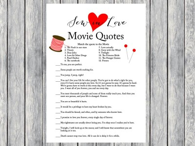 Sew In Love Bridal Shower Games Magical Printable