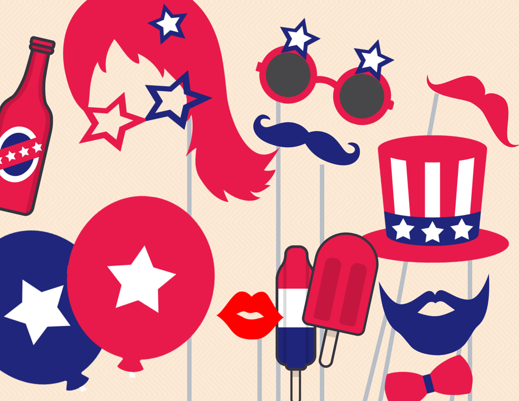 4th Of July Photo Booth Props Magical Printable