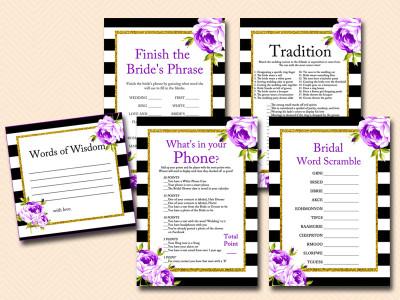 purple-floral-bridal-shower-games-printable-black-white-stripes-bs66