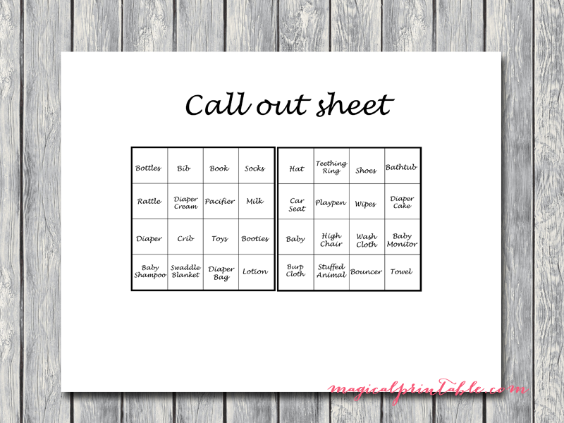 This is an image of Persnickety Bingo Calls Printable