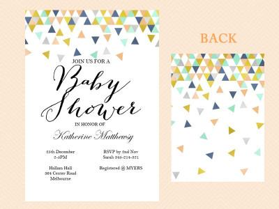 Editable Geometric Baby Shower Invitations - Magical Printable