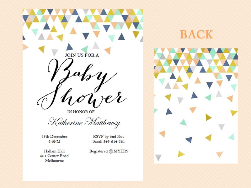 Geometric Baby Shower Invitations
