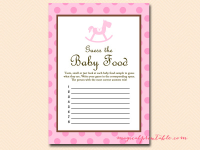 Rocking Horse Baby Shower Games Printables Magical Printable
