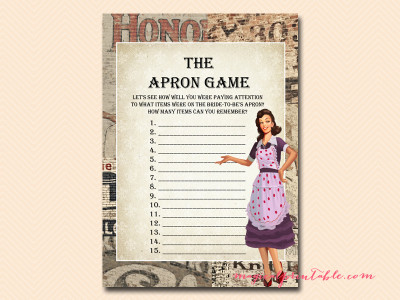 04ab17a2239 1950 s Retro Housewife Bridal Shower Games - Magical Printable