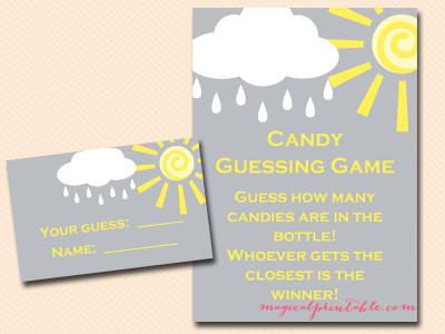 You Are My Sunshine Baby Shower Game Pack Magical Printable