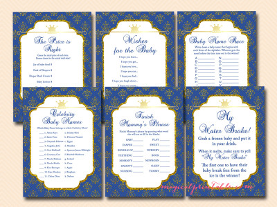 shower game printables royal prince baby shower games prince themed