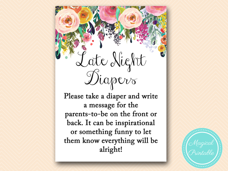 image relating to Late Night Diapers Printable identified as late-evening-diapers-indication - Magical Printable