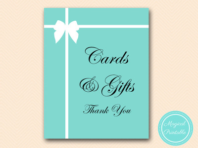sign cards and giftstiffany bridal shower baby shower