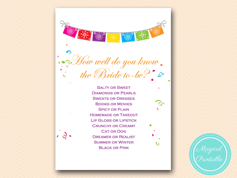 graphic about How Well Do You Know the Bride Printable identify bs136 Archives - Magical Printable