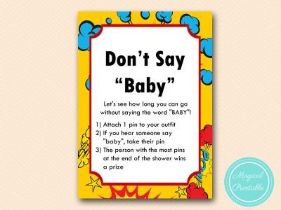 superhero baby shower game magical printable