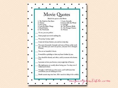 Free Bridal Shower Movie Game - Magical Printable
