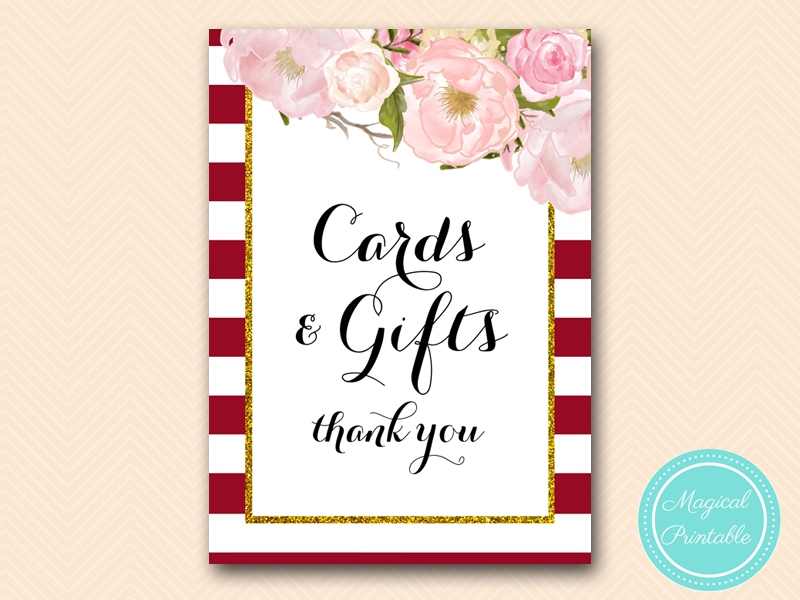 picture relating to Cards and Gifts Sign Printable referred to as bs403 Archives - Magical Printable