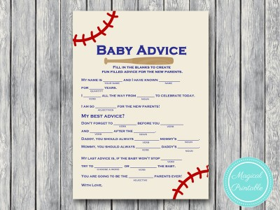photo relating to Baby Shower Mad Libs Printable named Baseball Child Shower Nuts Libs, Invitation - Magical Printable