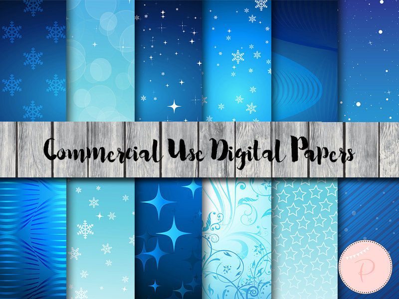 Ice Frozen Digital Papers Dp114 Magical Printable