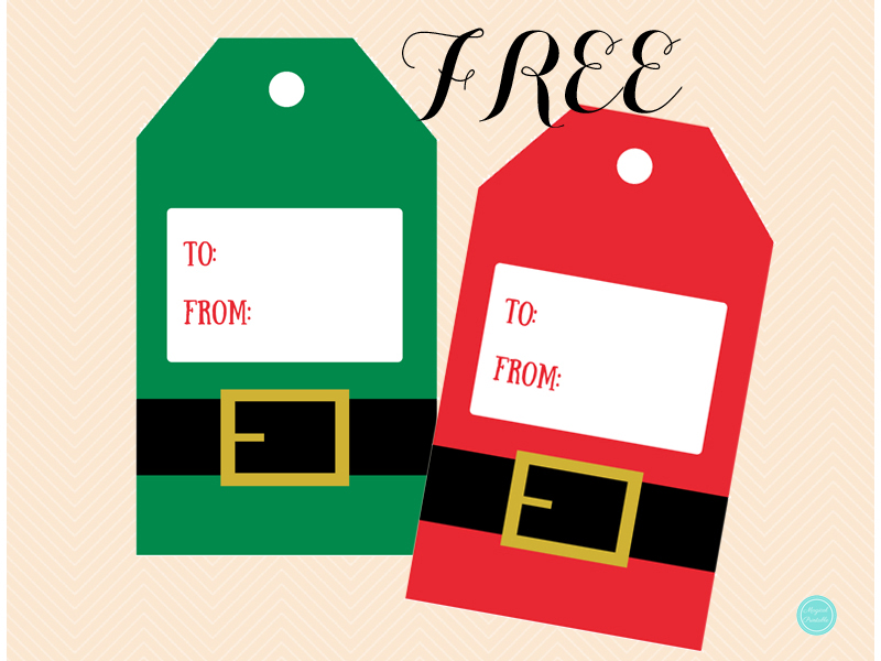 Free Printable Elf Suit Gift Tags - The Cottage Market  |Christmas Elf Tag