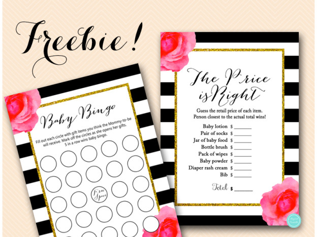 Free Baby Shower Games Price Is Right Bingo Magical Printable