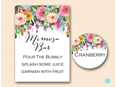 photo relating to Mimosa Bar Sign Printable named mimosa bar indicator with taste tags, bubbly indication - Magical Printable
