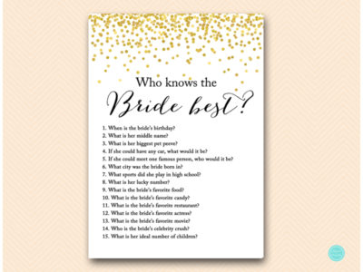 Who Knows the Bride Best – Printabell • Create