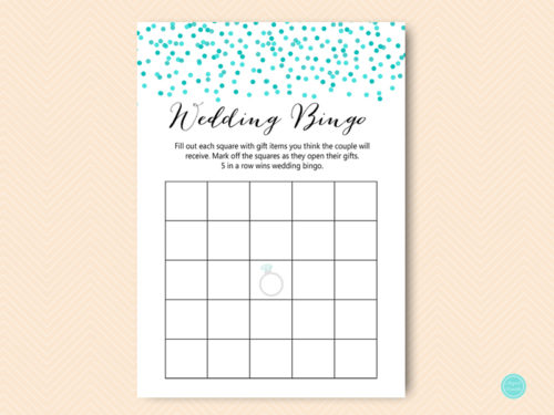 photograph relating to Bridal Bingo Printable known as Tiffany Confetti Prefilled Partners Shower Bingo Playing cards - Magical Printable