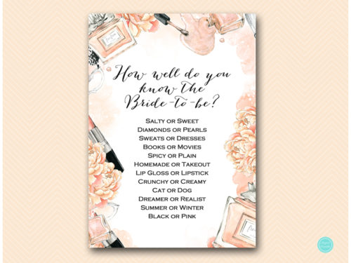 Makeup Bridal Shower Ideas : Fashion Beauty Bridal Shower Games Package - Magical Printable