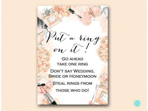 Obsessed image regarding put a ring on it bridal shower game free printable