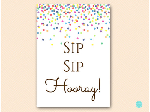 Bewitching image regarding sip sip hooray printable