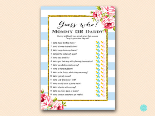 Fabulous image within guess who mommy or daddy free printable