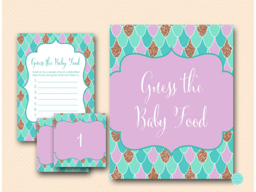 Mermaid Baby Shower Game - Guess the Baby Food - Magical ...