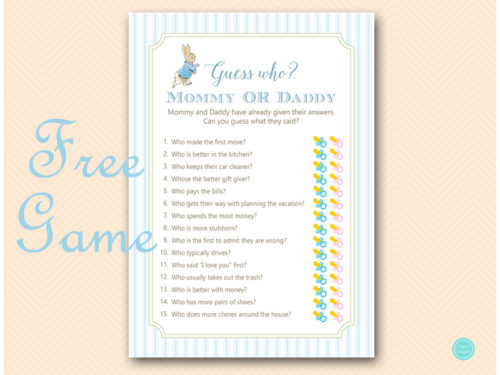 image about Guess Who Printable known as Totally free Wager Who Mommy or Daddy Youngster Shower Activity - Peter