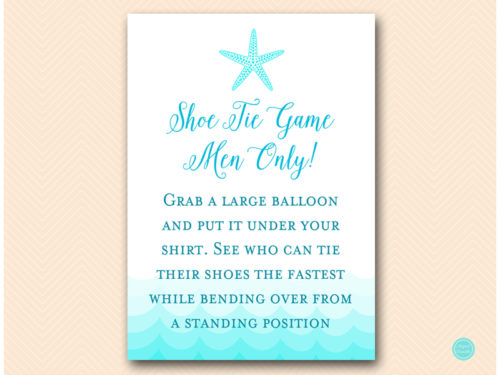 Tie Your Shoe Baby Shower Game