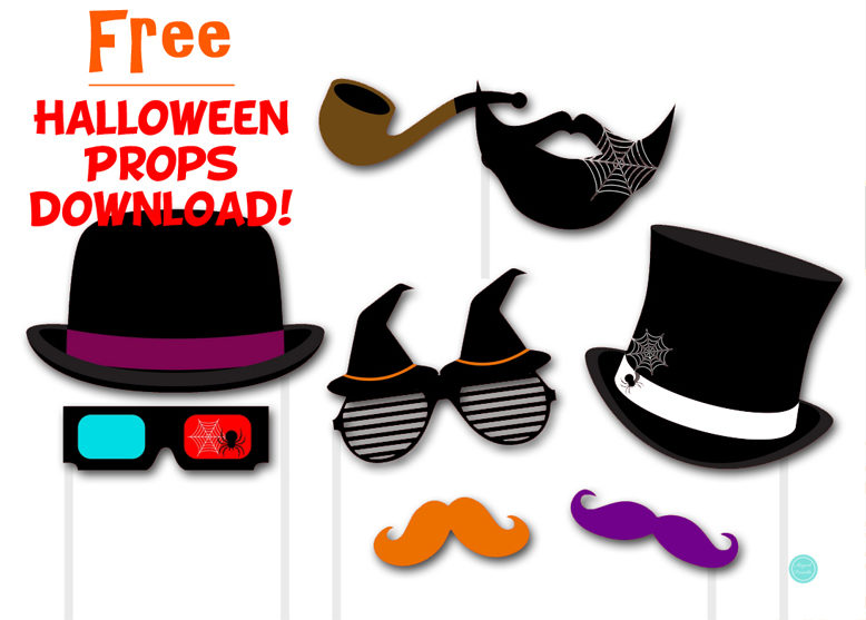 image relating to Halloween Photo Booth Props Printable Free known as Absolutely free Halloween Photobooth Props - Magical Printable