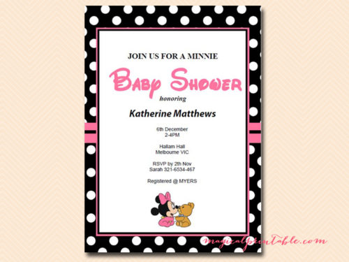 minnie mouse baby shower games
