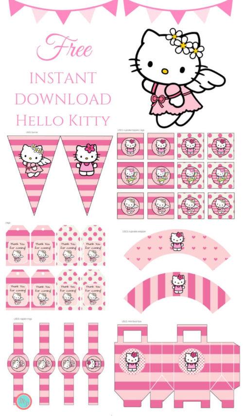 Free Pink Hello Kitty Party Printable Magical Printable