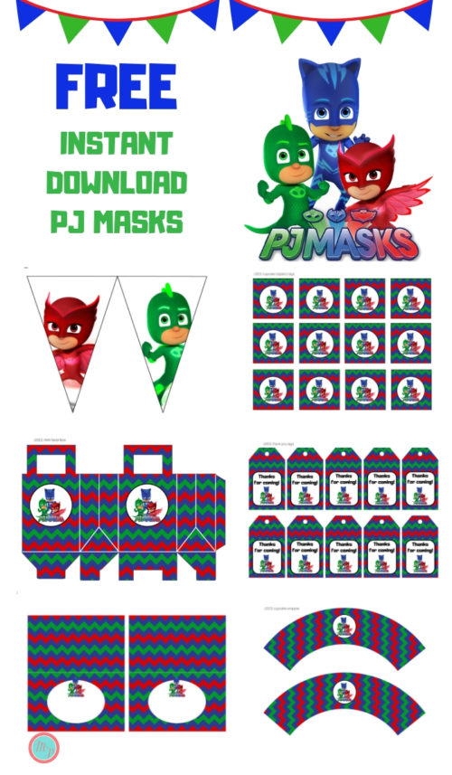 image regarding Pj Mask Printable identified as Absolutely free PJ Masks Get together Printable - Magical Printable