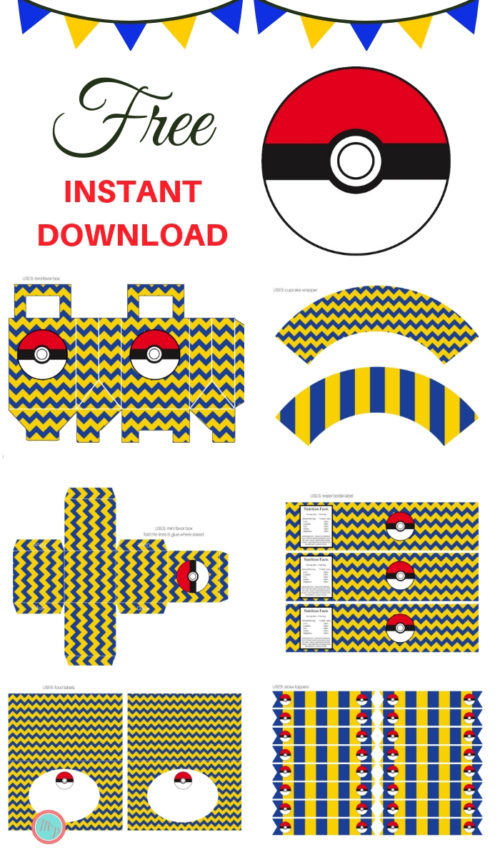 image relating to Pokemon Cupcake Toppers Printable identify No cost Pokemon Social gathering Printable - Quick Down load - Magical