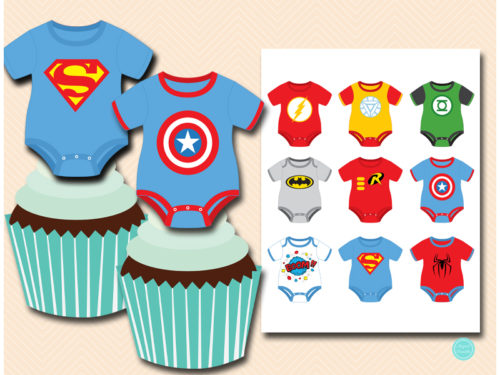photo about Superhero Cupcake Toppers Printable named Cupcake Toppers 2\