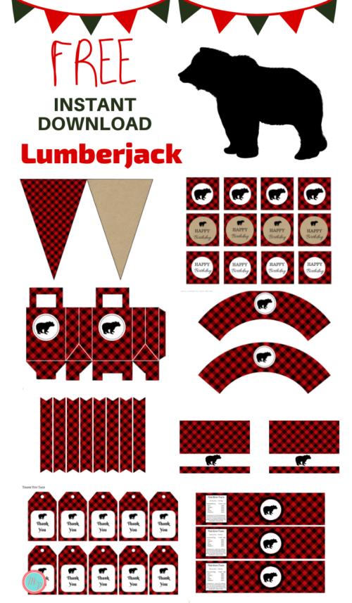 Free Lumberjack Birthday Party Printable - Magical Printable